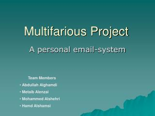 Multifarious Project