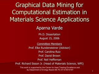 Graphical Data Mining for Computational Estimation in Materials Science Applications
