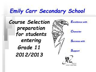 Emily Carr Secondary School
