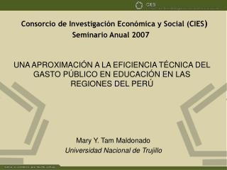 UNA APROXIMACIÓN A LA EFICIENCIA TÉCNICA DEL GASTO PÚBLICO EN EDUCACIÓN EN LAS REGIONES DEL PERÚ