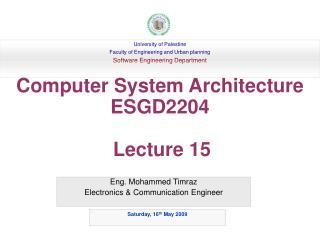 Eng. Mohammed Timraz Electronics & Communication Engineer