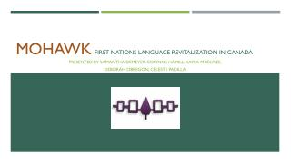 Mohawk First Nations Language Revitalization in Canada