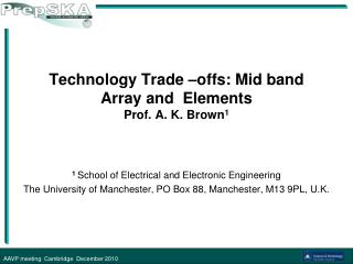 Technology Trade –offs: Mid band Array and  Elements  Prof. A. K. Brown 1