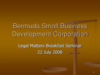 Bermuda Small Business Development Corporation