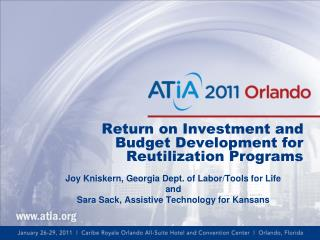 Return on Investment and Budget Development for Reutilization Programs