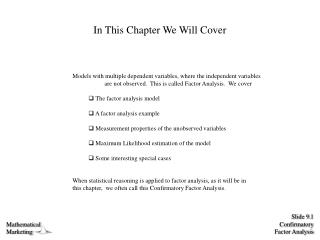 In This Chapter We Will Cover