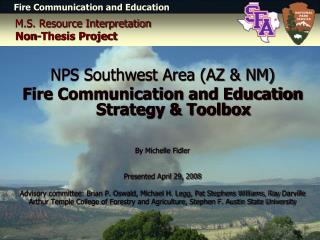 M.S. Resource Interpretation Non-Thesis Project