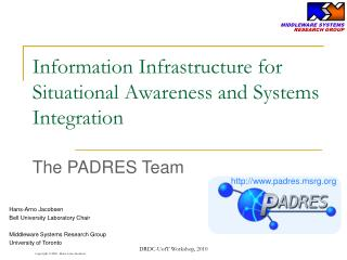 Information Infrastructure for Situational Awareness and Systems Integration