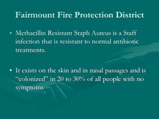 Fairmount Fire Protection District