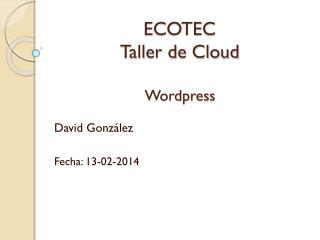 ECOTEC Taller de Cloud