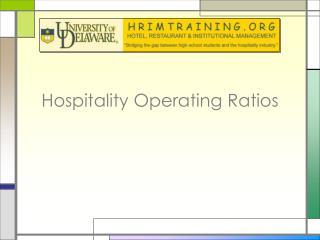 Hospitality Operating Ratios