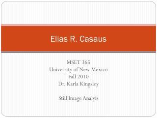 Elias R. Casaus