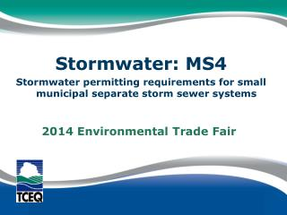 Stormwater: MS4
