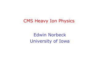 CMS Heavy Ion Physics