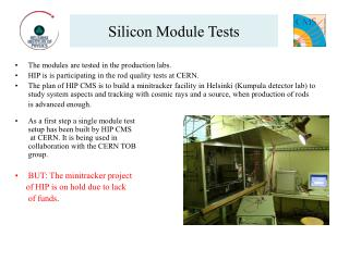 Silicon Module Tests