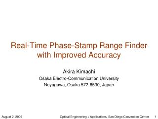 Real-Time Phase-Stamp Range Finder with Improved Accuracy