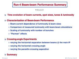 Run-4 Beam-beam Performance Summary