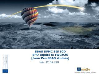 SBAS  DFMC SIS  ICD EPO Inputs to IWG#26 [from Pro-SBAS studies]