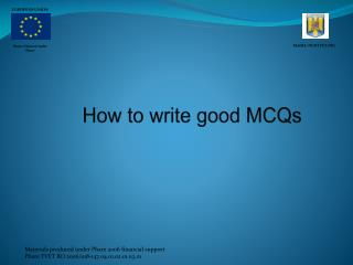 How to write good MCQs