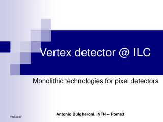 Vertex detector @ ILC