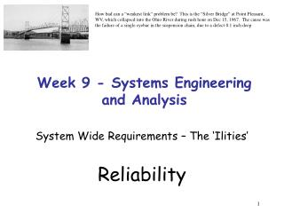 Week 9 - Systems Engineering and Analysis