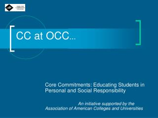 CC at OCC ...