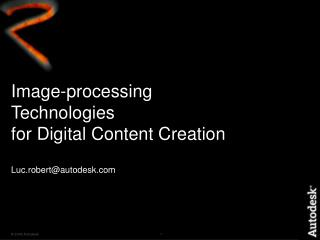 Image-processing Technologies  for Digital Content Creation