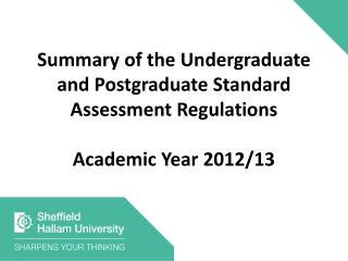 Assessment Regulations