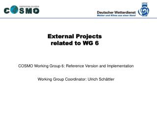External Projects  related to WG 6