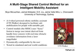 A Multi-Stage Shared Control Method for an Intelligent Mobility Assistant