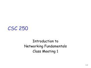 CSC 250