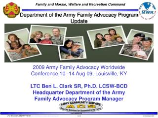 Department of the Army Family Advocacy Program  Update 2009 Army Family Advocacy Worldwide