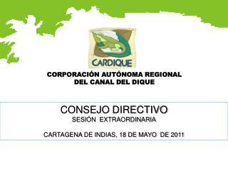 CORPORACIÓN AUTÓNOMA REGIONAL  DEL CANAL DEL DIQUE