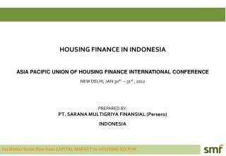 HOUSING  FINANCE IN INDONESIA ASIA  PA CIFIC UNION OF HOUSING FINANCE INTERNATIONAL CONFERENCE