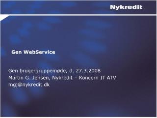 Gen WebService