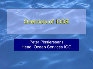 Overview of IODE