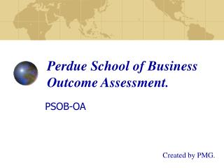 Perdue School of Business Outcome Assessment.
