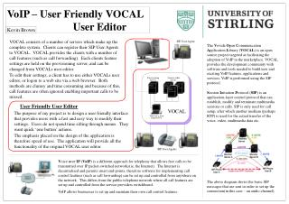 VoIP – User Friendly VOCAL  User Editor