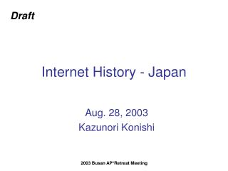 Internet History - Japan