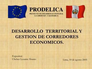 DESARROLLO   TERRITORIAL Y GESTION DE CORREDORES ECONOMICOS.