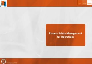 Process Safety Management for Operations