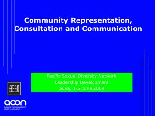 Community Representation, Consultation and Communication