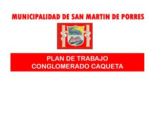 PLAN DE TRABAJO CONGLOMERADO CAQUETA