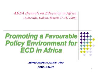 ADEA Biennale on Education in Africa (Libreville, Gabon, March 27-31, 2006)