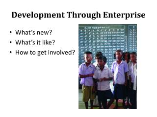 Development Through Enterprise