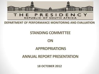 STANDING COMMITTEE  ON  APPROPRIATIONS ANNUAL REPORT PRESENTATION