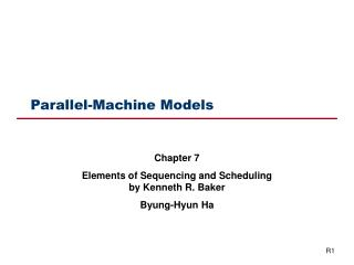 Parallel-Machine Models