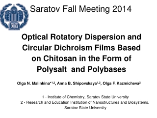 Optical Rotatory Dispersion and Circular Dichroism