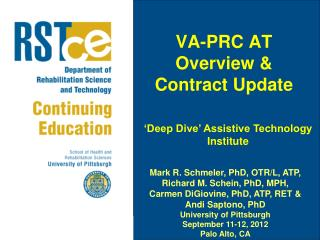 VA-PRC AT Overview & Contract Update