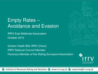 Empty Rates –  Avoidance and Evasion